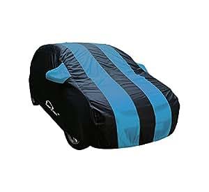Autofurnish Stylish Aqua Stripe Car Body Cover For Hyundai Grand I-10 - Arc Aqua Blue
