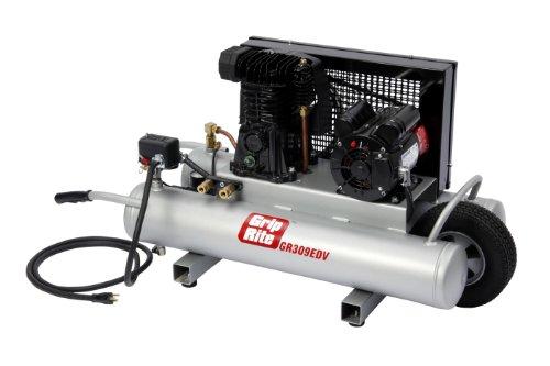 Grip-Rite GR309EDV 3HP 9 Gallon Electric Wheelbarrow Compressor