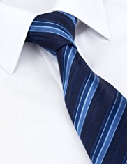 Machine Washable Textured Striped Tie