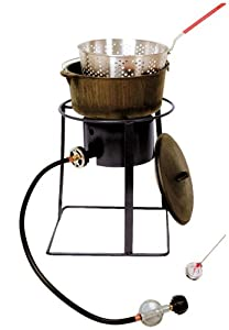 King Kooker 1650 16-Inch Outdoor Propane Burner with Cast Iron Dutch Oven from King Kooker