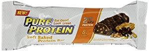 Pure Protein Soft Baked Protein Bar, Double Chocolate Peanut Butter Crunch, 2.2 Pound