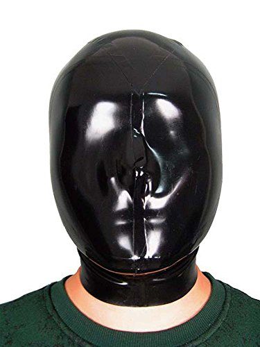 [AngelDis Latex Costume Gummmi Hood ALL Closed Tailor Made Black Color #02007 (M-56cm)] (Easy Access Costumes)