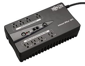 Tripp Lite INTERNET600U 600VA 300W UPS Desktop Battery Back Up Compact 120V USB RJ11 PC, 8 Outlets