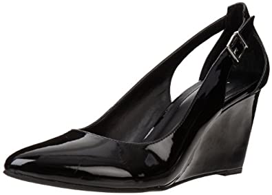 BCBGeneration Women's Blossoms Wedge Pump,Black,6.5 M US