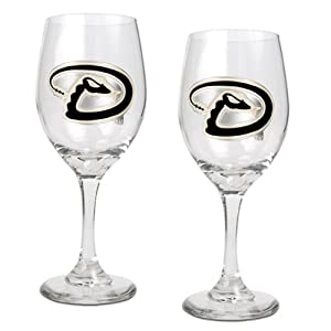 MLB 14-Ounce Wine Glass (Set of Two) by Great American Products