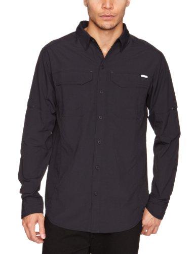 Columbia Men's Silver Ridge Long Sleeve Shirt - Black, XXX-Large Tall Fit