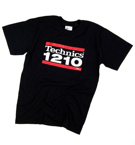 DMC Technics 1210 DJ Mens T-Shirt Black T044S Small