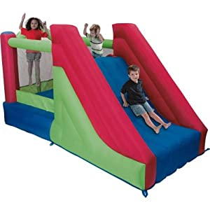 Heartwarming Mega Bounce Inflatable Slide and Climb Bouncy Castle with accompanying TT1 Puncture Repair Kit