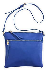 Shiraleah Vegan Leather Olivia Cross body Bag (Periwinkle Blue)