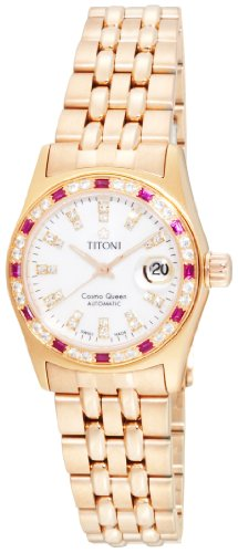 Titoni Women's 728 RG-DBR 309 Cosmo Queen Swiss Automatic Watch