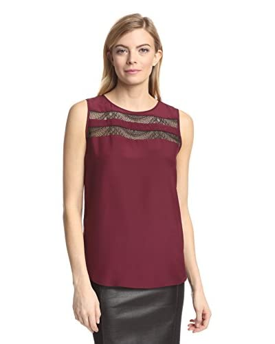 magaschoni women s lace inset tank magaschoni v neck long