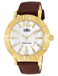 Elite Analog Ladies Dress White Dial Women's Watch - E53502G/105