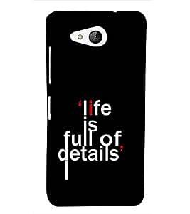 Quote Designer Back Case Cover for Microsoft Lumia 650