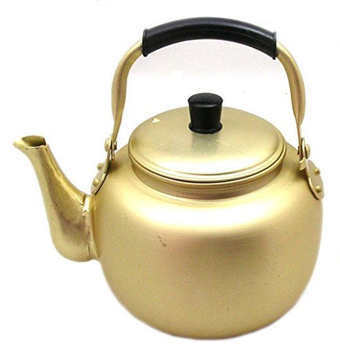 1L(33.8oz) Nickel-Silver Plated Aluminum Yellow Makgeolli Korean Raw Rice Wine Pot Kettle by DAEWON (Makgeolli Rice Wine compare prices)