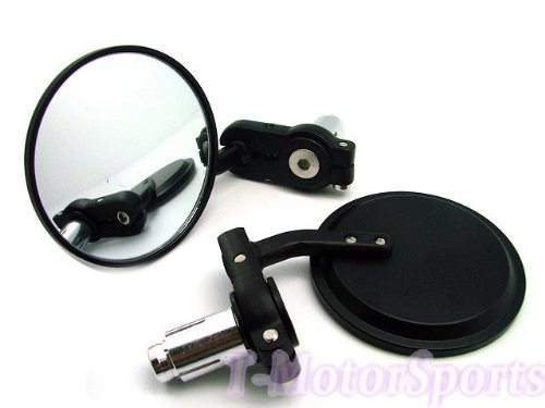 "Learn More About TMS® 3"" CNC Round Motorcycle Scooter ATV dirt bike bar end side mirrors for H..."