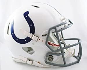 NFL Indianapolis Colts Speed Authentic Football Helmet by Riddell