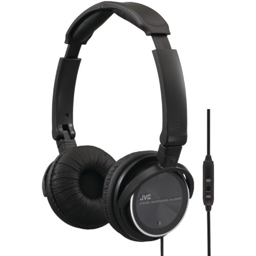 Jvc Hasr500B High Quality Headphones With Remote And Mic (Black)
