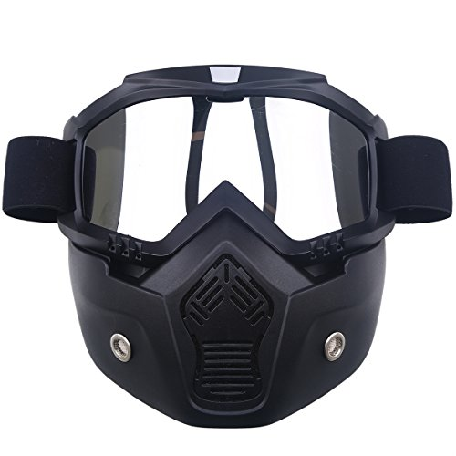 POSSBAY Motocross Motorcycle Off-road Racing Goggles Face Cover Mask for Open Face Helmet (Open Face Racing compare prices)