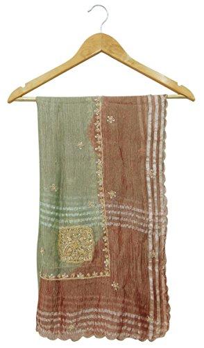tissue-vintage-tissu-dupatta-mariage-echarpe-indienne-brode-vert-stole-hijab