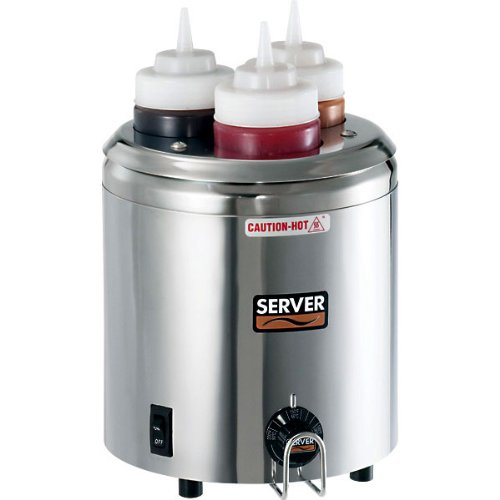 Server-Products-86810-Signature-Touch-SS-3-Bottle-Squeeze-Bottle-Warmer