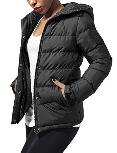 Urban Classics Ladies Bubble Jacket, Giacca Donna, Nero (Black 7), 46