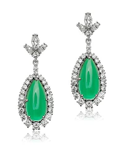 CZ by Kenneth Jay Lane P/1.25-Inch Cabochon with Pave 15 Cttw