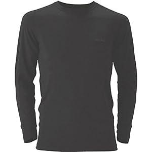 (モンベル)mont-bell スーパーメリノウール L.W.ラウンドネックシャツ Men\'s 1107263 BK ブラック M