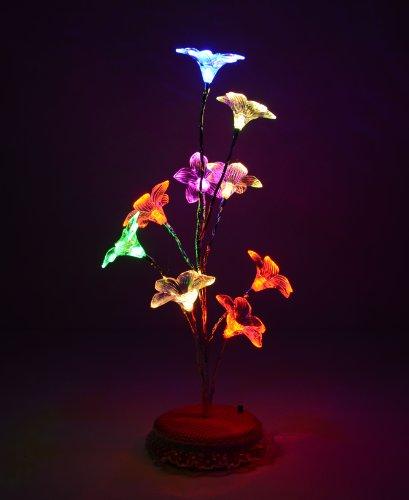 Mini Lily Flower Tree Led Light Lamp For Home Desk Festival Decoration