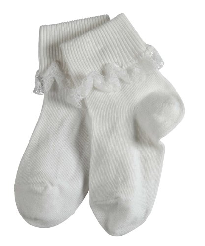 Falke Unisex - Baby Babybekleidung/ Söckchen 10034 Falke Romantic Lace Socke, Gr. 74/80, Weiß (white 2000)