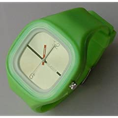 Sixron Silicon Jelly Watch Unisex Light Green Fathers Day Gift