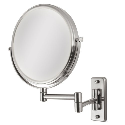 Zadro Dual-Sided Dual-jointed Magnifying Wall-Mount Makeup Mirror