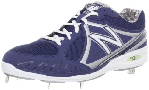 pictures of New Balance Men's MB3000 Cleated Baseball Shoe,Blue/White,15 D US