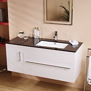 1200 vanity unit with basin for bathroom ensuite wall hung soft