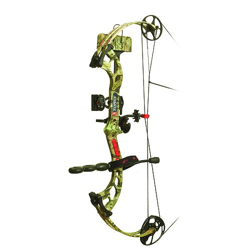PSE Surge 19.5-30-Inch Left Hand Bow System with Ready to Shoot Package, Infinity, 60-Pound