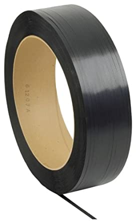 "PAC Strapping 58H.80.0154 Polypropylene Heavy Duty Hand Grade Strapping, 5,400' Length, 5/8"" Width, Black"