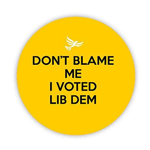 DON'T ME BLAME J'ai voté LIB Pinback DEM, broche bouton badge arrière 58 mm, cadeau insolite