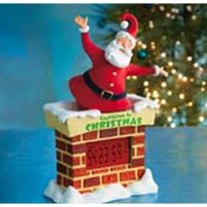 #!Cheap Hallmark Christmas Large Countdown To Christmas Santa Tabletop Decoration