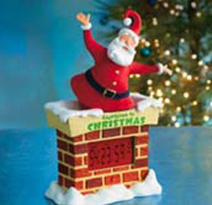 Hallmark Christmas Large Countdown To Christmas Santa Tabletop D
