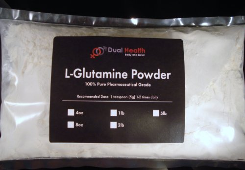 1 Lb. L-Glutamine 1000Mg Amino Acid Protein Powder Pure By Dual Health