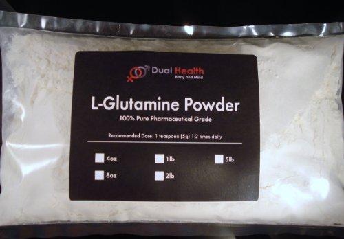 1 Lb. L-Glutamine 1000Mg Amino Acid Protein Powder Pure By Dual Health