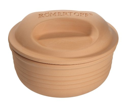 Romertopf 99150 Glazed Clay Cooker Made In Germany, Round Casserole front-430313