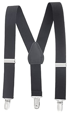 "Albert's Baby / Kids Solid Color Elastic Suspenders (22"", Black)"