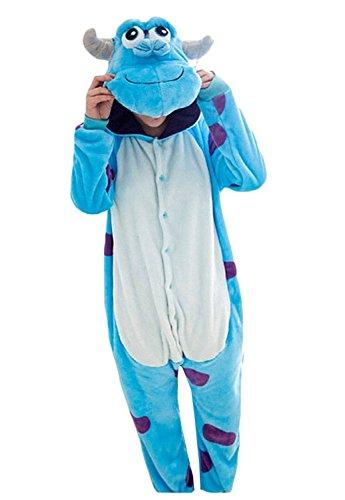 [Rnmomo Unisex-adult Kigurumi Onesie Sully Pajamas (S: 155 - 162cm (5' - 5.3') height)] (Sully Monsters Inc Costume)