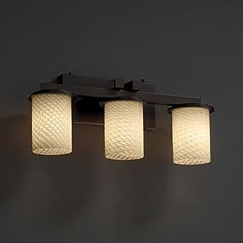 Justice design dakota 3 light bathroom vanity light in for Amazon bathroom vanity lights