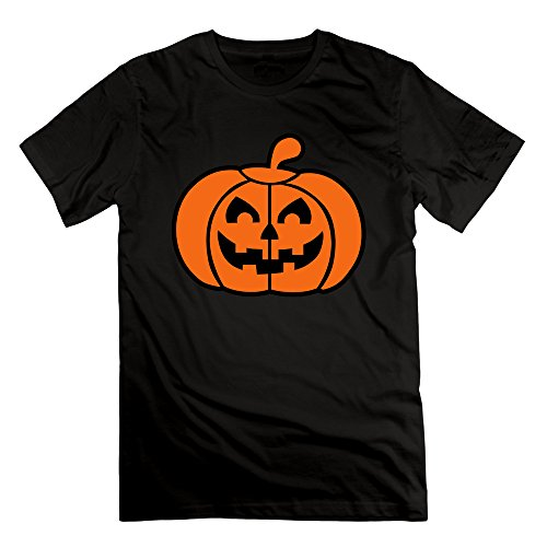 Men's Halloween Pumpkin Short Sleeve T-Shirt Black XL (Cartman Voice Changer)