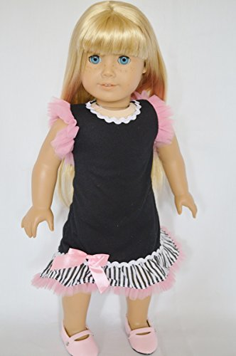 PINK TULLE AND BOW DRESS FOR AMERICAN GIRL DOLLS - 1