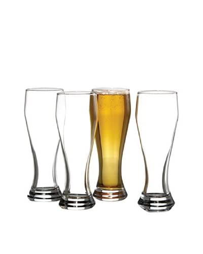 style setter Soho Set Of 4 Pilsner Glasses, Clear