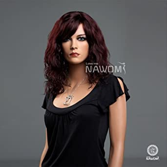 (WG-ZLCOOL99T) Curly Hair Wig, dark red color wig