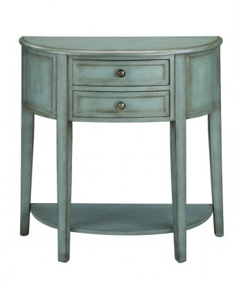 Cheap 64734 Demilune Console Table with 2 Drawers: Vintage (B003VVAONS)