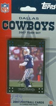 2007 NFL Topps Dallas Cowboys Complete Football Card Team Set featuring Tony Romo